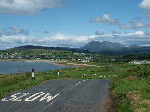 Looking back to Blackwaterfoot