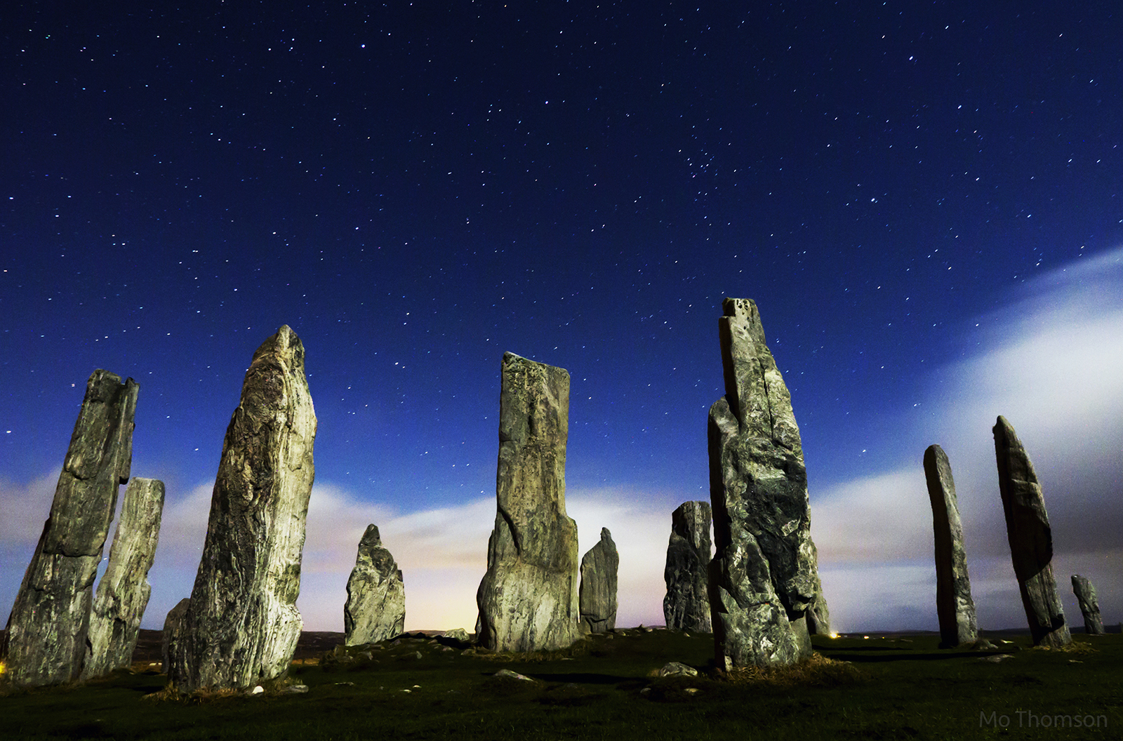 Calanish stones under the moonlight