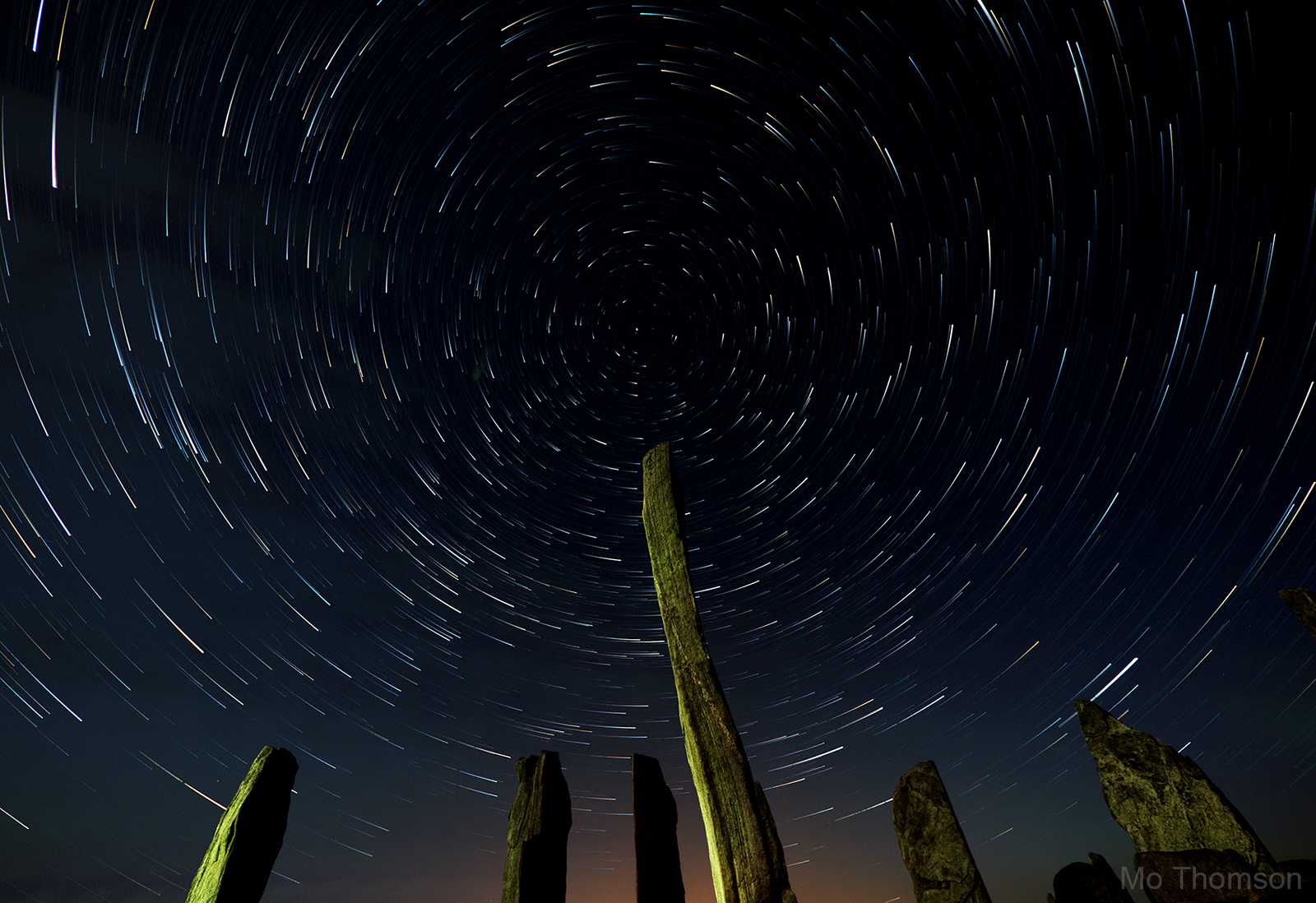 Stars above the Callanish standing stones