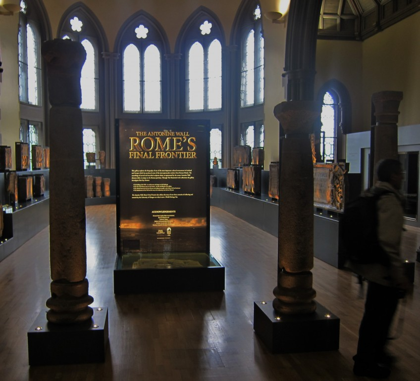 'The Antonine Wall: Rome's Final Frontier', exhibition at the Hunterian Museum. Photo credit Dougie Baird ©