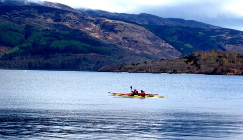 Kayaking Loch Lomond. Photo credit Lesley Judge