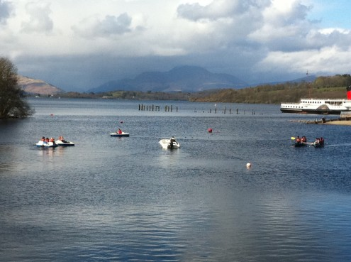 Pedalos Loch Lomond. Photo credit Lesley Judge
