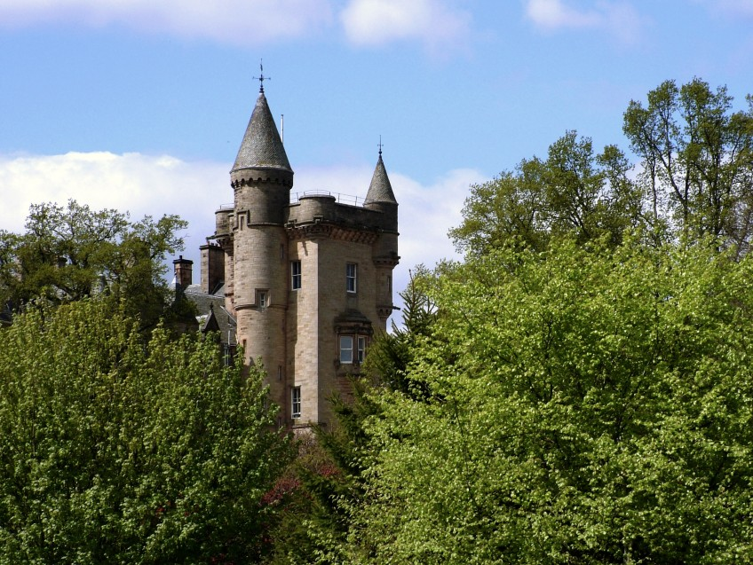 Baronial ancestral home, Blair Drummond House, Stirlingshire