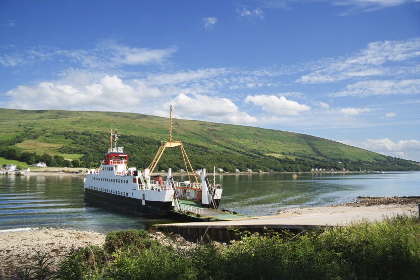 Car ferry on the Kyles of Bute, Scotland