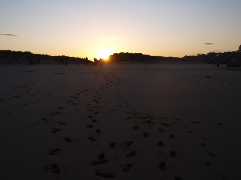 Footprints on the East Beach, Lossiemouth