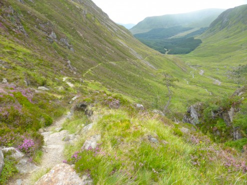 The southern end of Jock's Road looking towards Glen Doll