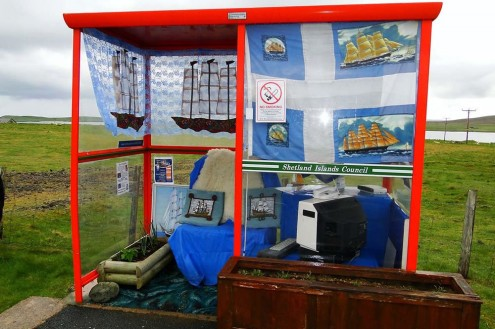 Bobby's Bus Shelter Unst. Photo credit: Charles Tait