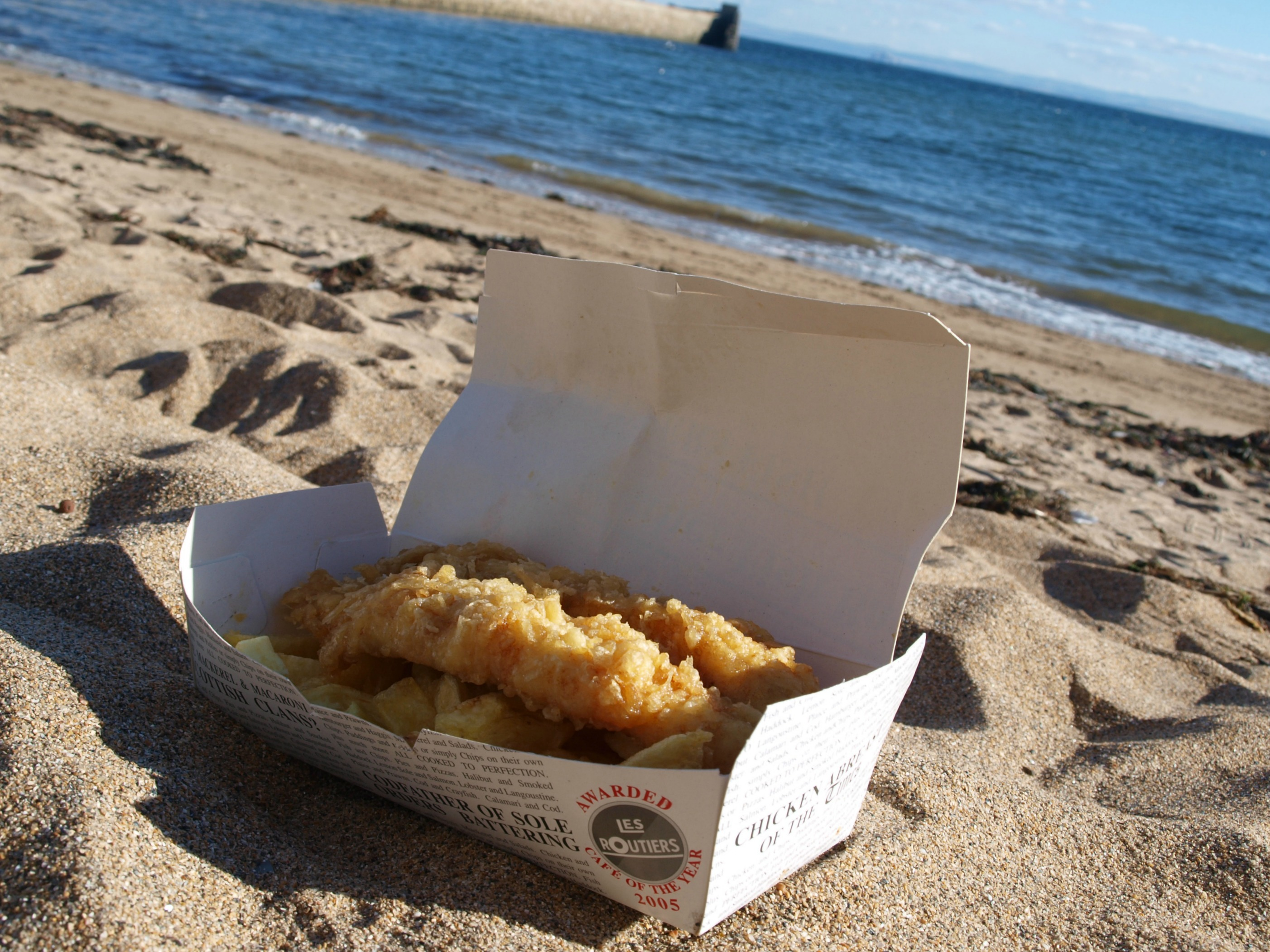 Fish and chips from the Anstruther Fish Bar