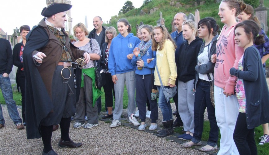 Stirling GhostWalk 5 - School Groups - The Hangman plays it for laughs (2012)