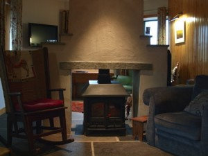 a cosy fire and comfortable chairs, Orkney