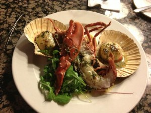Orkney Lobster and hand-dived scallops